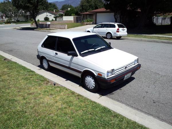 Small Wheel Drive 1988 And 1989 Subaru Justys Rusty But Trusty