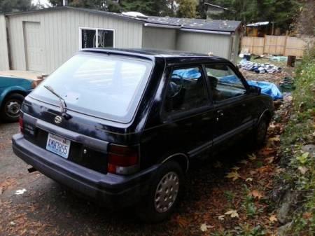1989 Subaru Justy for sale right rear