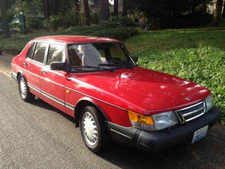 1993 Saab 900S right front