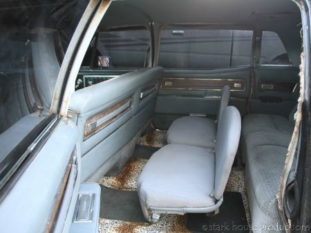 1968 Cadillac Fleetwood 75 interior rear