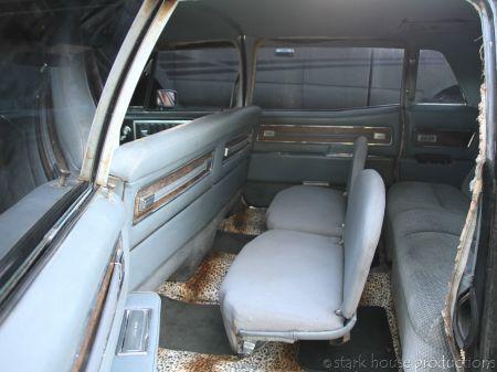 1968 Cadillac Fleetwood 75 interior rear