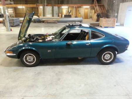 1970 Opel GT blue left