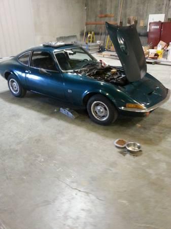 1970 Opel GT blue right