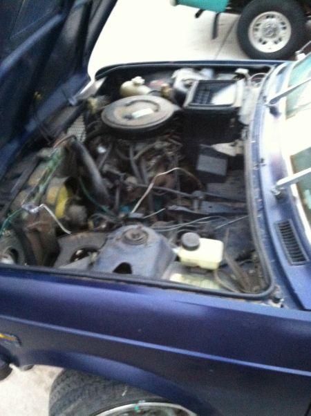 1977 Fiat 128 Familiare wagon engine