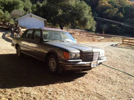 1977 Mercedes 280SE right front