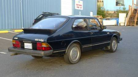 1983 Saab 900 turbo for sale right rear