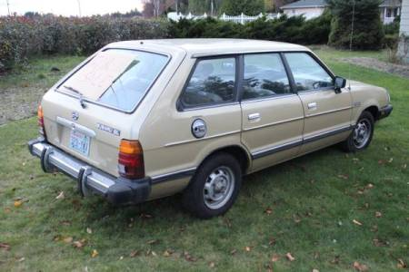 1984 Subaru GL wagon right rear