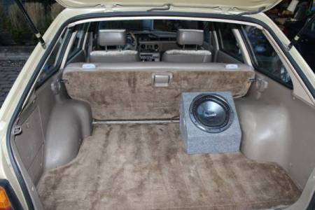 1984 Subaru GL wagon trunk
