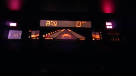 1986 Subaru XT turbo gauges