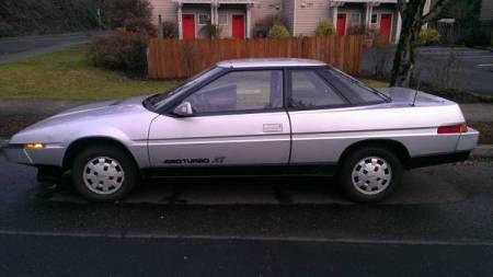 1986 Subaru XT turbo left side