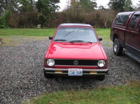 1986 VW Cabriolet front