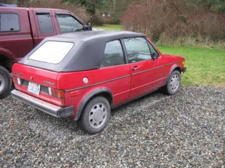 1986 VW Cabriolet right rear