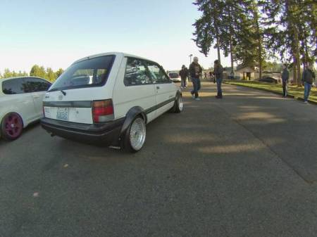1989 Subaru Justy 4WD right rear