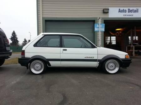 1989 Subaru Justy 4WD right side