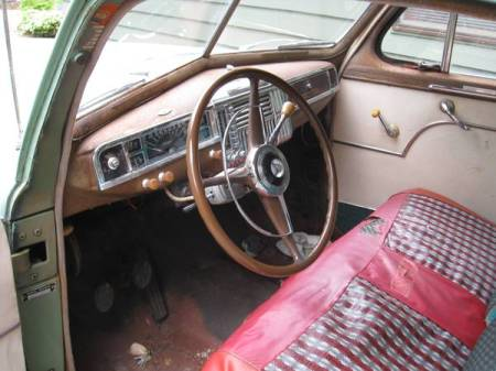 1949 Plymouth coupe interior