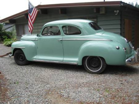 1949 Plymouth coupe left side