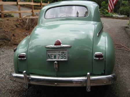 1949 Plymouth coupe rear