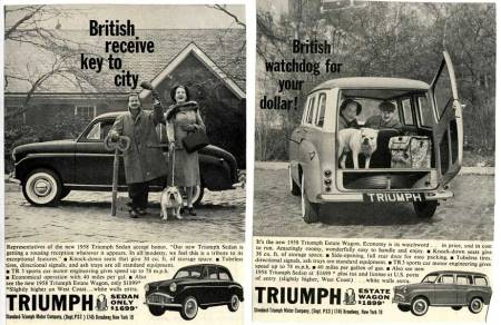 1958 Triumph TR10 advertisement