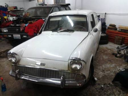1961 Ford Anglia left front