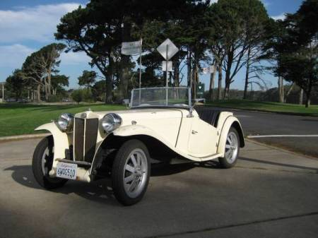 1961 MG TC replica left front