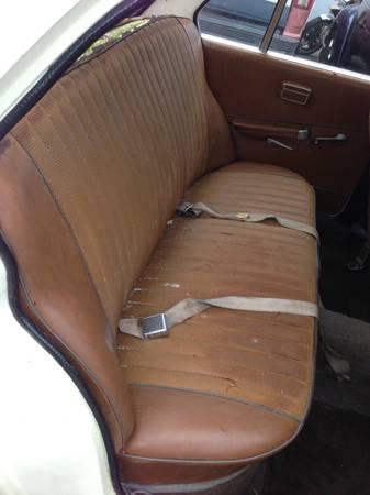 1966 BMW 1600 rear seat
