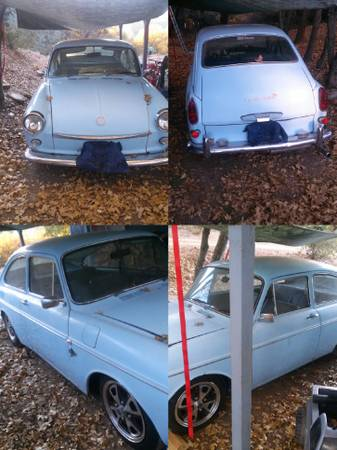 1969 VW Type 3 Fastback collage