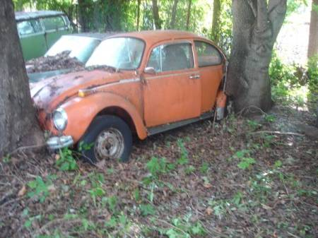 1970s VW Beetle Hoard orange bug