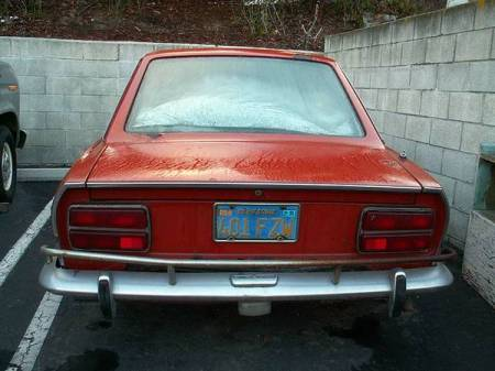 1972 Fiat 124 Coupe rear