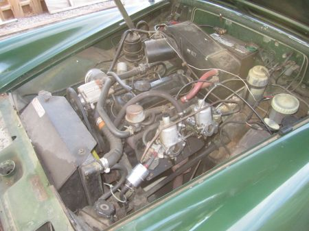 1972 MG Midget engine