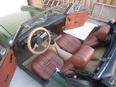 1972 MG Midget interior