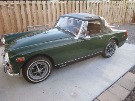 1972 MG Midget left front