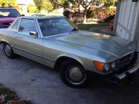 1974 Mercedes 450SL right front