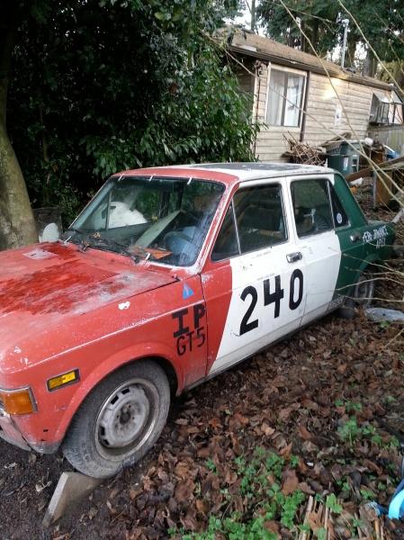1976 Fiat 128 race car left front