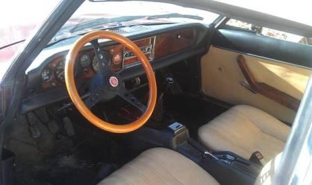 1979 Fiat 124 Spider interior
