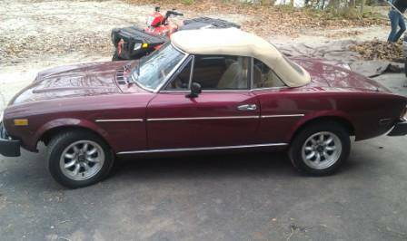1979 Fiat 124 Spider left side