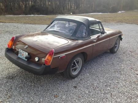 1980 MGB right rear