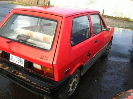 1988 Yugo GVX right rear
