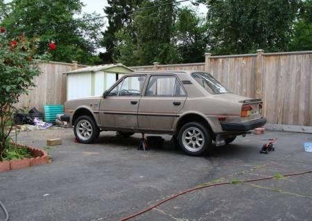 1989 Skoda 135GLi left rear