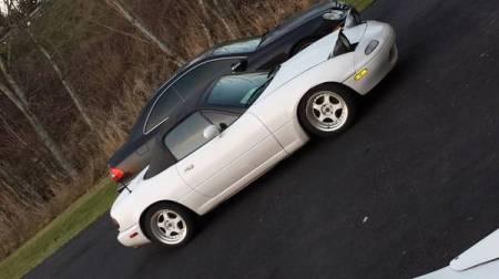 1991 Mazda Miata white riht front