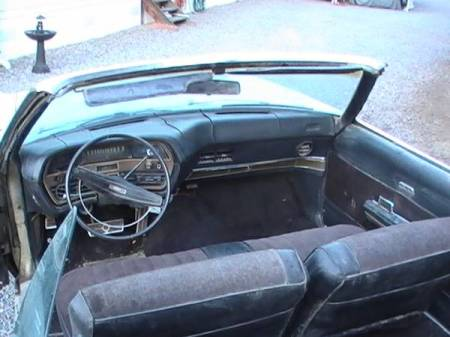 1969 Ford Galaxie LTD XL convertible interior