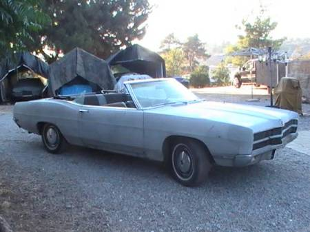 1969 Ford Galaxie LTD XL convertible right front