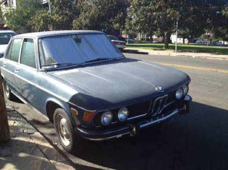 1972 BMW Bavaria blue right front