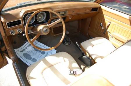 1973 Ford Pinto interior