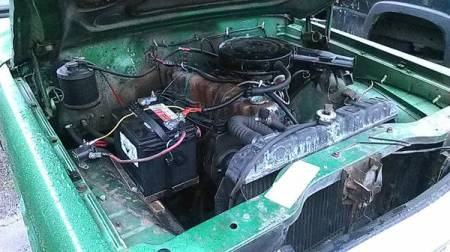 1973 Jeep Commando engine