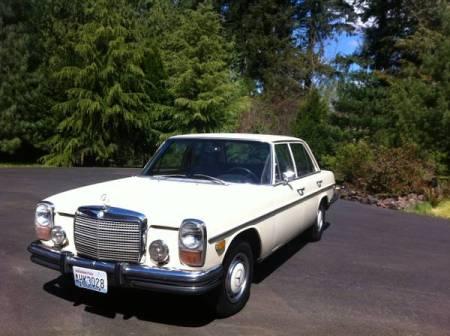 1973 Mercedes 280 left front