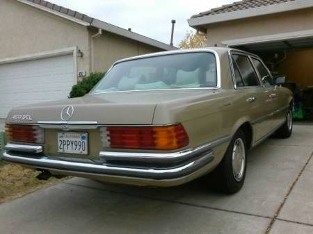 1973 Mercedes 450 SEL right rear