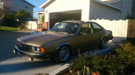 1981 BMW 633CSi left front