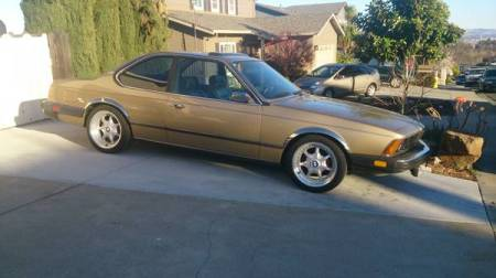 1981 BMW 633CSi right front