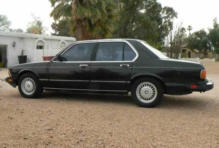 1983 BMW 733i 5 speed left rear