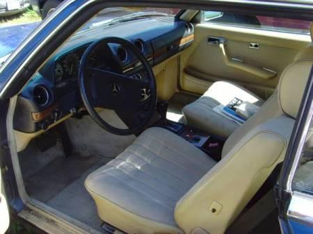 1985 Mercedes 230CE interior